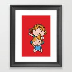 mom & daughter Framed Art Print