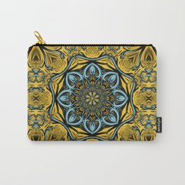 Gothic blue pattern Carry-All Pouch
