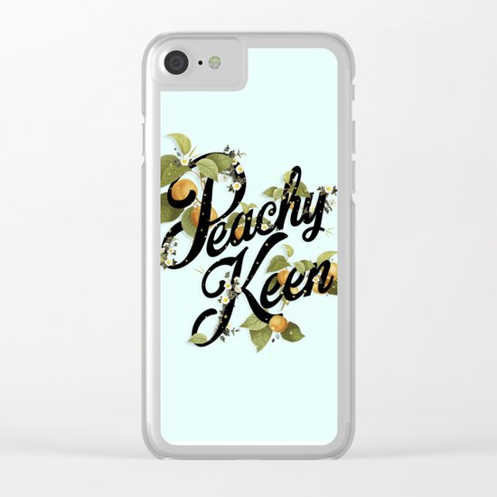 Peachy Keen : Mint Clear iPhone Case