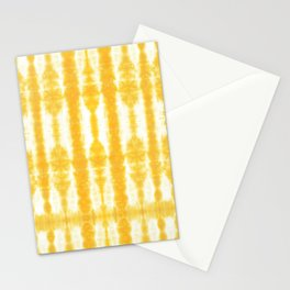 Yellow Tiki Shibori Stationery Cards