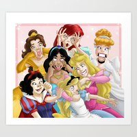 princess Art Prints featuring Smile for the Camera by Brianna