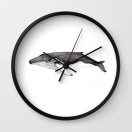 North Atlantic Humpback whale Wall Clock