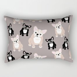 French Bulldog Puppies Rectangular Pillow