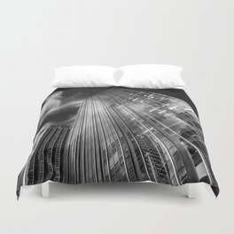 Towers and clouds Duvet Cover