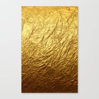 gold foil Canvas Prints featuring Gold Foil by digital detours