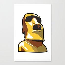 Gold Moai Canvas Print