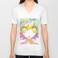 glitch V-neck T-shirts featuring ♢GLITCH♢ by XENVITA