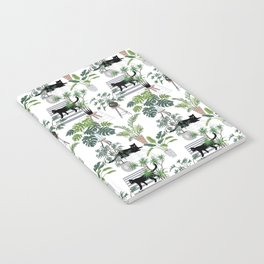 cats in the interior pattern Notebook