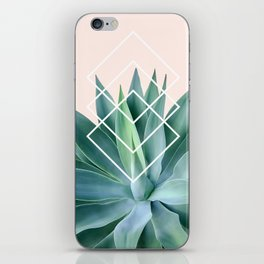 Agave geometrics - peach iPhone Skin