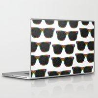 sunglasses Laptop & iPad Skins featuring Sunglasses by Luna Portnoi