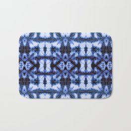 Blue Oxford Shibori Bath Mat