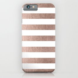Simply Striped Moon Dust Bronze iPhone Case