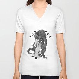 Inktober Werewolf Unisex V-Neck