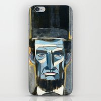 lincoln iPhone & iPod Skins featuring Lincoln  by Oliver Dominguez