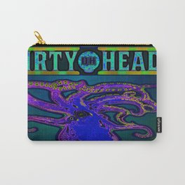 Dirty Heads Psychedelic Octopus Colorful Trippy Vibrant Character Design Carry-All Pouch
