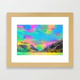 Truly High Mountains Framed Art Print