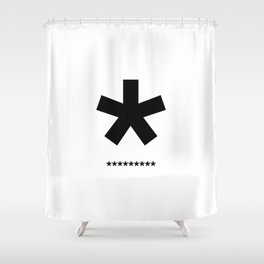 Helvetica Typoster #3 Shower Curtain