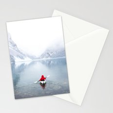 Kayaking Across A Canadian Lake Stationery Cards