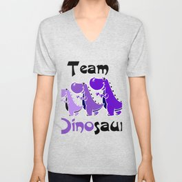 Team Dinosaur (Purple) Unisex V-Neck