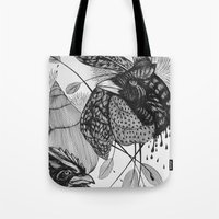 sketch Tote Bags featuring Sketch by Cat Sims