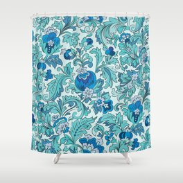 Novella Azure Shower Curtain