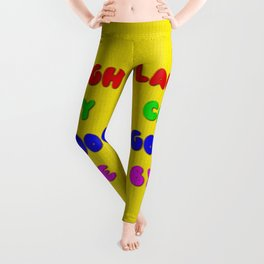 Laugh Cry Good Bye - Knitting Style Leggings
