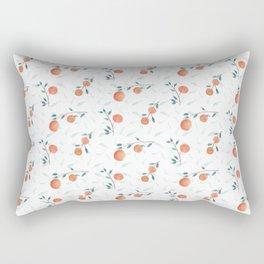 Watercolor Oranges Rectangular Pillow