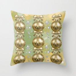 The Joy of Christmas - Gold Throw Pillow