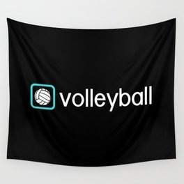 Volleyball (Blue) Wall Tapestry