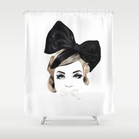 bows Shower Curtains featuring Bows by SoulDeep