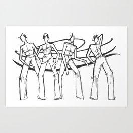 People in Swirls! Art Print