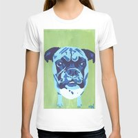 boxer T-shirts featuring Boxer by mkfineart