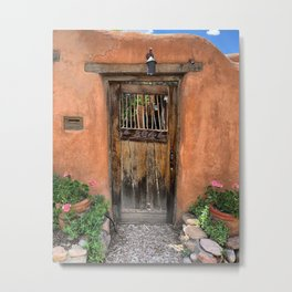 Santa Fe Garden Gate Metal Print