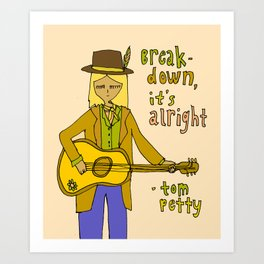 tom petty tribute // forever love your rock and roll soul Art Print