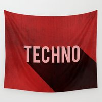 techno Wall Tapestries featuring Techno by Barbo's Art