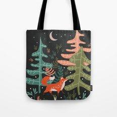 Evergreen Fox Tale Tote Bag