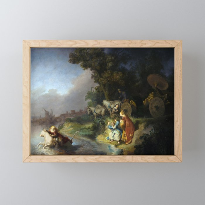 "Rembrandt Harmenszoon van Rijn, ""The Abduction of Europa"", 1632 Framed Mini Art Print"