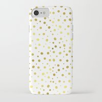 gold dots iPhone & iPod Cases featuring Gold Dots by Laura Maria Designs