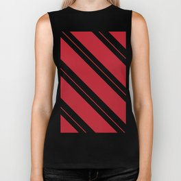 Tilted Classic Red Candy Cane Biker Tank