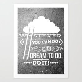 DO IT! Art Print