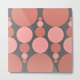 Fibonacci Pop in Coral Metal Print