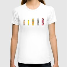 Evolution of skate deck Womens Fitted Tee White SMALL