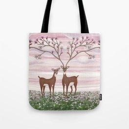 magnolia deer Tote Bag