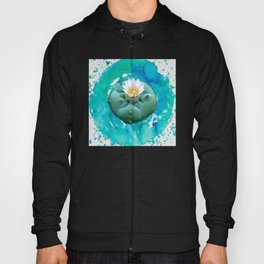 Psychedelic Cactus - Peyote Plant Button Hoody