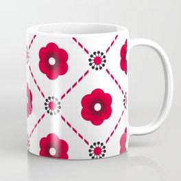Beautiful Asian Japanese Origami Paper Red Flower Pattern Art Coffee Mug