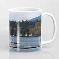 vancouver Mugs featuring Vancouver Harbour by RMK Creative