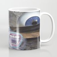 moon phase Mugs featuring PHASE: 23 by Matthew Jorde