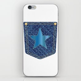 Star Denim Pocket iPhone Skin