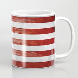 American Wooden Flag Coffee Mug