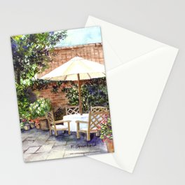 Terrace of The Manor House Stationery Cards